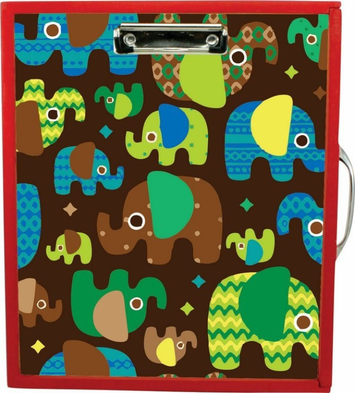Enigmatic Woodworks Wooden Art Box - Elephant Theme(Red)
