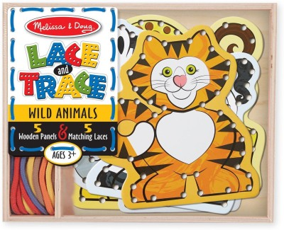 Melissa & Doug Doug Lace & Trace - Wild Animals