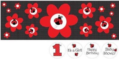 Creative Converting Ladybug Fancy Stickers
