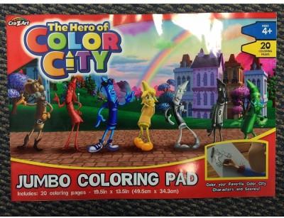 CRA-Z-ART Hero of Color City Jumbo Coloring Pad