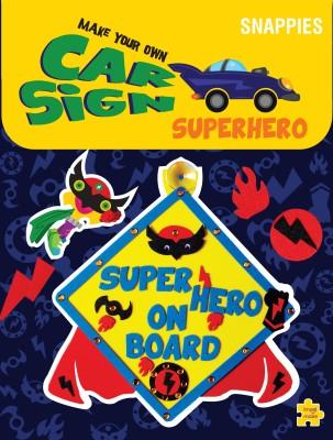 Imagimake Car Sign - Superhero