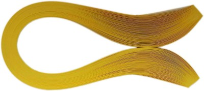 Tootpado 1000 Non-Metallic Quilling Paper Ribbons Strips (Yellow 3mm)