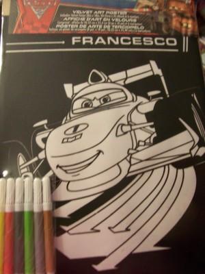 Disney Velvet Art ~ Disney Cars Francesco