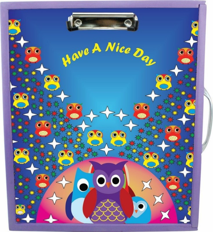 Enigmatic Woodworks Wooden Art Box - Owl Theme1(Purple)