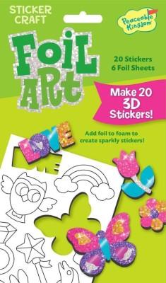 Peaceable Kingdom Foil Art Sweet Stuff Sticker Craft Pack