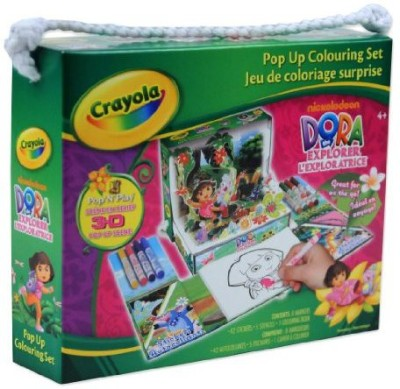Crayola Dora The Explorer Crayola Pop Up Colouring Set