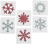 Fun Express Red & Glitter Snowflake Tatt...