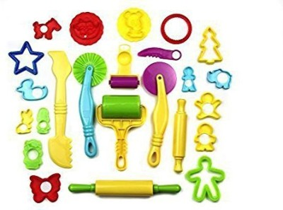 Strokes Art Supplies Strokes Art Durable Clay and Dough Tools 24 Piece Set Animal Shapes - Create Hours Of Creativity - Ages 3 & Up