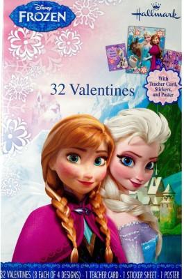 Disney Frozen Valentines with Teacher Card