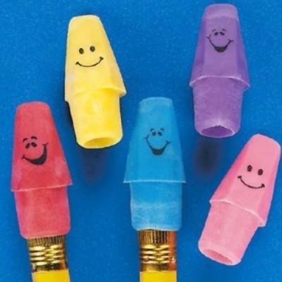 Fun Express Rubber Funny Face Pencil Top Erasers