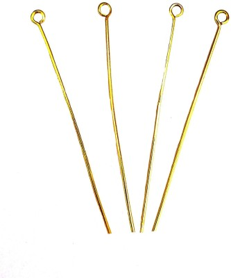 Ankit Collection Copper Gold Polished 18 GA, 3 Inch Eye Pins ( 20 Pc Pk)