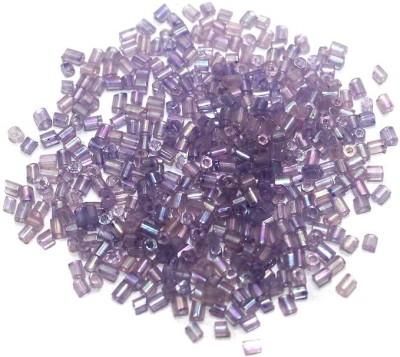 Jaunty Beadsnfashion 2 Cut Seed Bugles Beads Violet Rainbow (100 Gm)