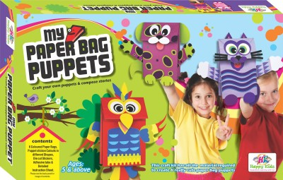 Jaibros Paper Bag Puppets Art and Craft Kit