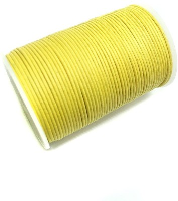jaunty Beadsnfashion Jewellery Making Cotton Cord Yellow 2 MM (100 Mtrs.)