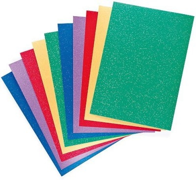 Atanands Self-Adhesive Glitter Paper Sheets pack of 10