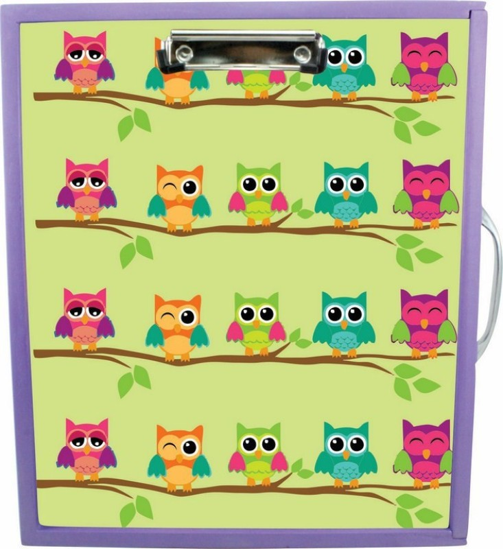Enigmatic Woodworks Wooden Art Box - Owl Theme(Purple)