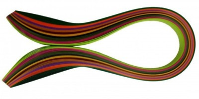 Mimi Creation Multicolor 400 Quilling Paper Strips Non Metallic Art & Craft Material (200-7MM, 200-10MM)