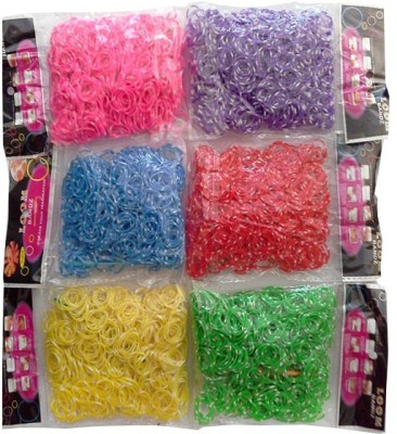 Shatchi Polka Dot Assorted 3600 Loom Band Refill Kit Kids Arts Crafts Toys With S Clips & Hook, Birthday, Anniversary, Festival