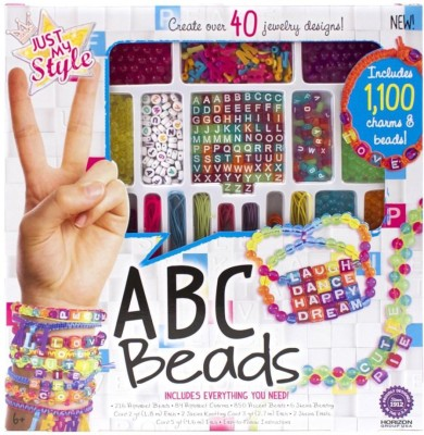 Just My Style Abc Beads Art and Craft Multi Color