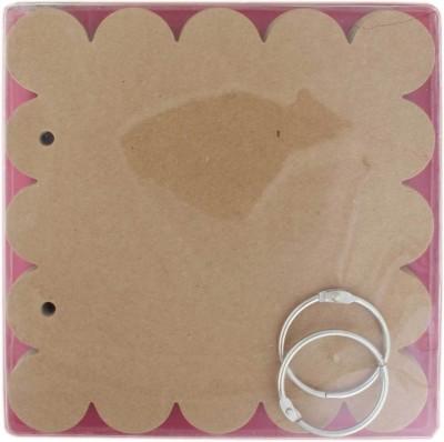 Tootpado Scalloped Square Style Chipboard Mini Album Scrapbook (6,, x 6,,) - DIY Art & Craft Activites