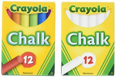 Crayola Crayola Non-Toxic White Chalk(12 ct box)and Colored Chalk(12 ct box) Bundle