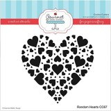 Gourmet Rubber Stamps Random Hearts Sten...