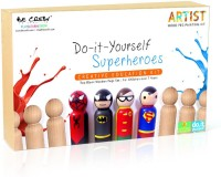 Be Cre8v Be Cre8v Super Hero Wooden Peg Painting Kit
