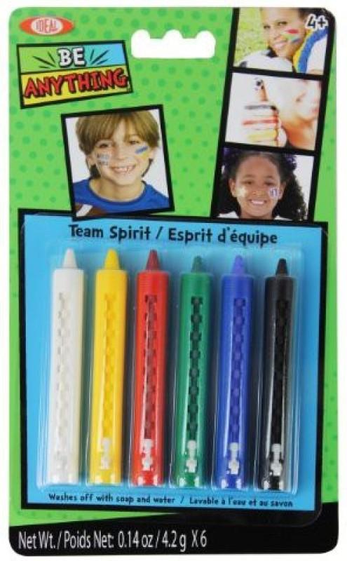 Ideal Face Painting Kit Crayons Team Spirit