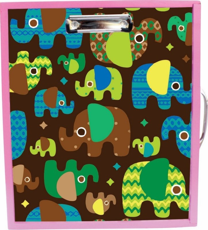 Enigmatic Woodworks Wooden Art Box - Elephant Theme(Pink)