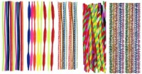 Atanands 52 Pcs Assorted Pattern And Colors Craft Pipe Cleaners Wire Sticks