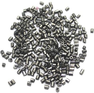 Jaunty Beadsnfashion 2 Cut Metallic Silver Seed Bugles Beads (100 Gm)
