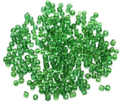 Jaunty Beadsnfashion Seed Bugles Beads Green Trans (100 Gm)