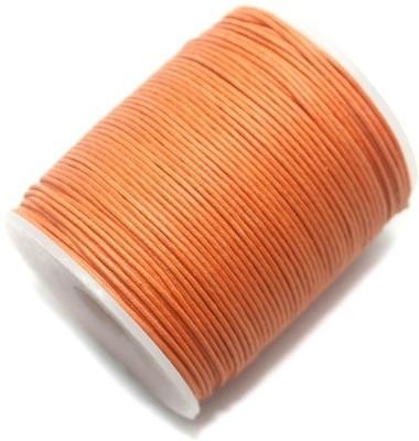 jaunty Beadsnfashion Jewellery Making Cotton Cord Orange 1 MM(100 Mtrs.)