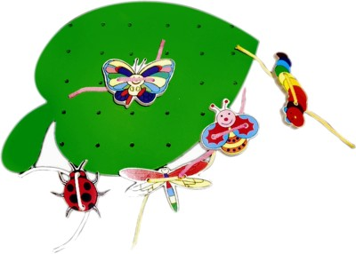 Kinder Creative Lacing Leaf with Insects