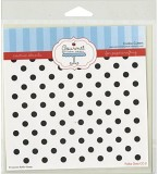 Gourmet Rubber Stamps Polka Dots Stencil...