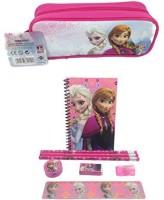 Disney Brand New Frozen Queen Elsa, Princess Anna & Olaf Stationary Set + Pencil Pouch Combo