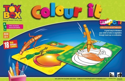 Toysbox Colour It Wipe It - Fruits & Vegetables