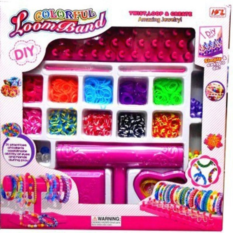 Montez Colorful LoomBand With Loom Stand