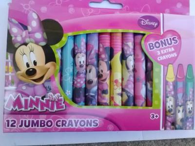 Disney Minnie Mouse 12 Jumbo Crayons