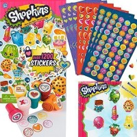 Shopkins 1200 Stickers, 600 Valentine Day Mini Heart Sticker, 6 Fun Heart Stampers and 2 Random Erasers best price on Flipkart @ Rs. 2383