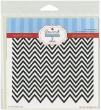 Gourmet Rubber Stamps Chevron Stripes St...