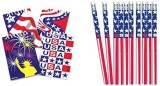 US Toy 12 Patriotic Notepads and Stars a...