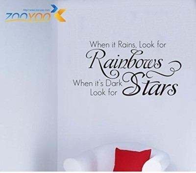 Amaonm ® When It Rains Look for Rainbows New Style Quotes Wall Decal Sticker Decor for Baby's Room Removable Vinly Wall Decals Stickers for Kids Children Boys and Girls Bedroom Bathroom Living Room