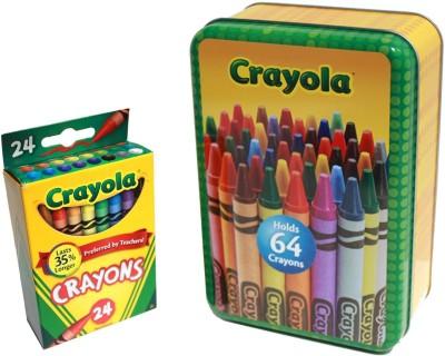 Crayola Large Storage Tin and Box of Crayola Crayons