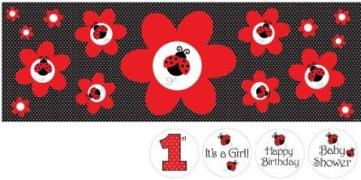 Creative Converting Creative Converting Ladybug Fancy Giant Party Banner With Stickers