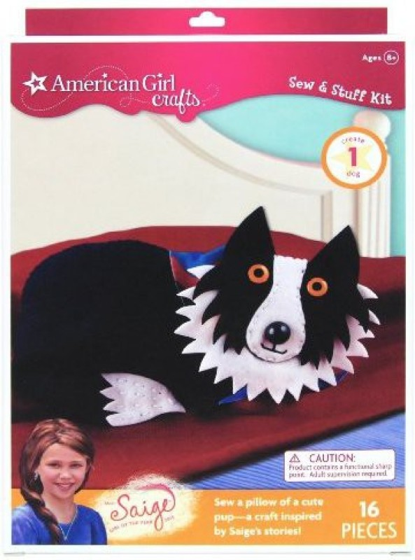 American Girl Crafts Dog Sew and Stuff Kit, 2013 Girl of The Year Saige