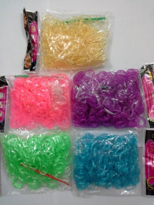 Shatchi 3000 Assorted Glow In Dark Loom Band Refill Kit Kids Toys Arts Crafts With S Clips & Hooks,Birthday, Anniversary, Festival