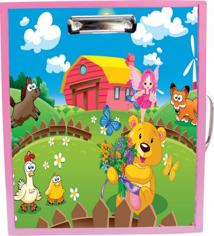 Enigmatic Woodworks Wooden Art Box - Farm House Theme1(Pink)
