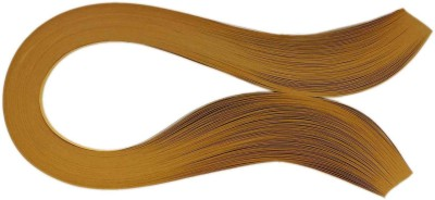 Tootpado 1000 Non-Metallic Quilling Paper Ribbons Strips (Brown 5mm)