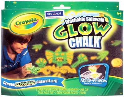Crayola Washable Sidewalk Glow Chalk Art